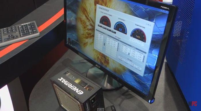 Alimentation Enermax 550W en Demo avec FurMark (Computex 2015)