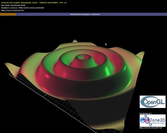 Opengl surface deformer synthetic benchmark ozone3d engine opengl 2