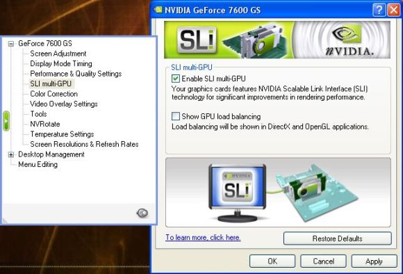 oZone[3D] Net GPUs Database - GIGABYTE NVIDIA GeForce 7600 GS SLI