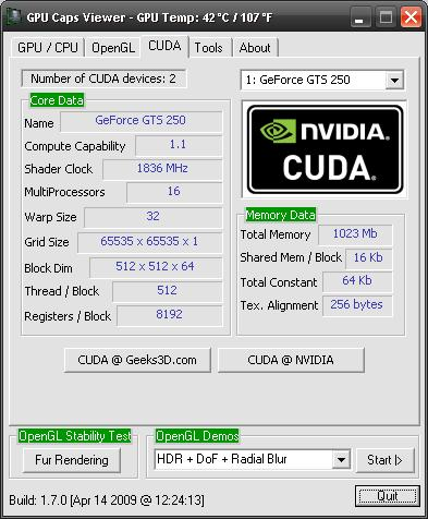 GPU Caps Viewer: Graphics card and GPU information utility