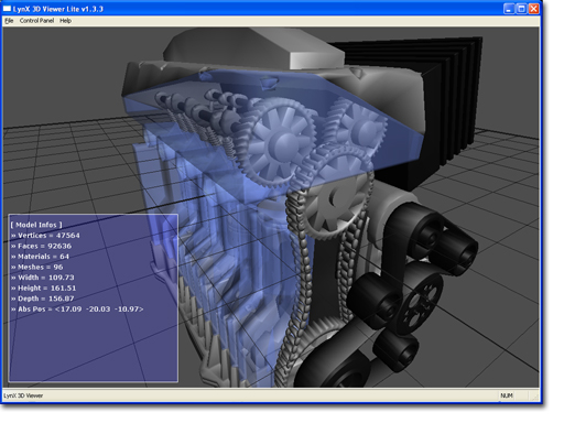 Lynx 3d viewer lite 3d object viewer opengl 3ds ase obj 3d model editor