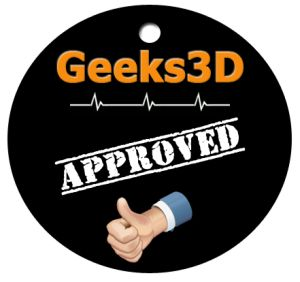 Geeks3D APPROVED badge