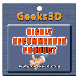 Geeks3D highly recommended product