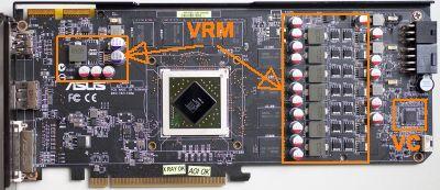 Asus EAH 5830 DirectCU PCB