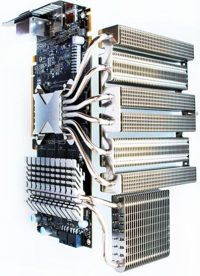 Radeon HD 5850 with Thermalright Spitfire VGA cooler and VRM heatsinks