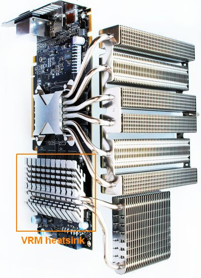 Radeon HD 5850 - VRM heatsink