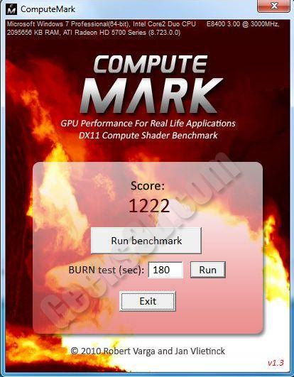 ComputeMark - DX11 DirectCompute benchmark - Radeon HD 5770