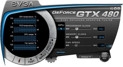 EVGA Precision - GTX 480 skin