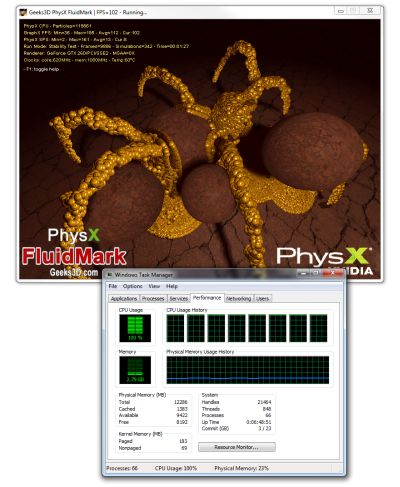 Multi-core CPU PhysX