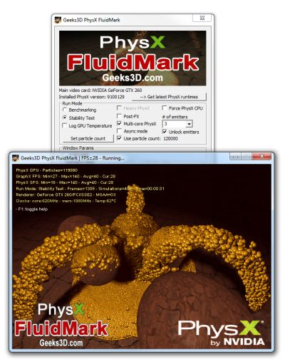 FluidMark - GPU PhysX