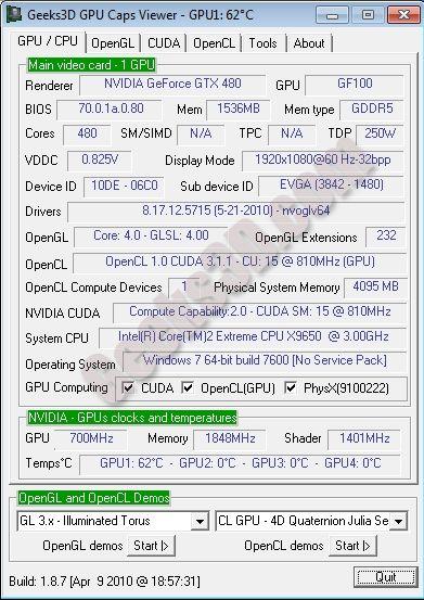 NVIDIA R257.15 + OpenGL 4.0 + GTX 480