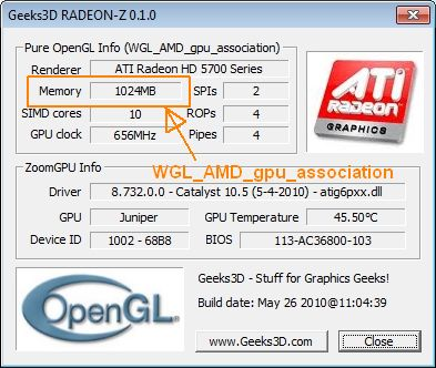 Memory usage - OpenGL - Radeon HD 5870