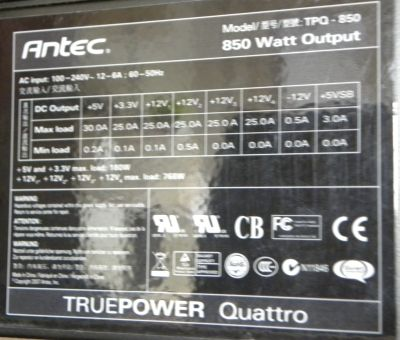 Antec TPQ 850W PSU