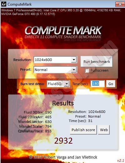 ComputeMark 2.1 - GTX 480