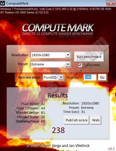 ComputeMark 2.1 - HD 5870