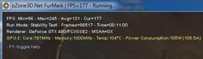 FurMark and overclocked GTX 480