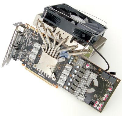 GTX 480 cooled by Thermalright's SpitFire VGA cooler