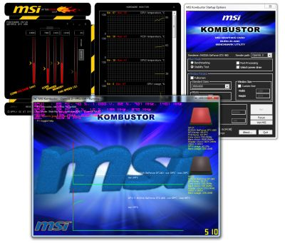 MSI Afterburner 1.6.0 And MSI Kombustor 1.0.10