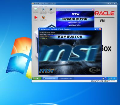 VirtualBox 3.2.6 and MSI Kombustor