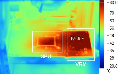 Infrared picture of the GTX 460