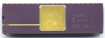 Intel 8087 math coprocessor