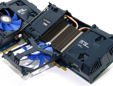 KFA2 GTX 460 with the detachable fan