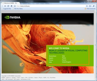NVIDIA Europe website