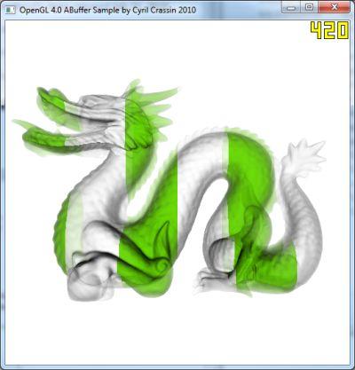 OpenGL 4.0 A-Buffer
