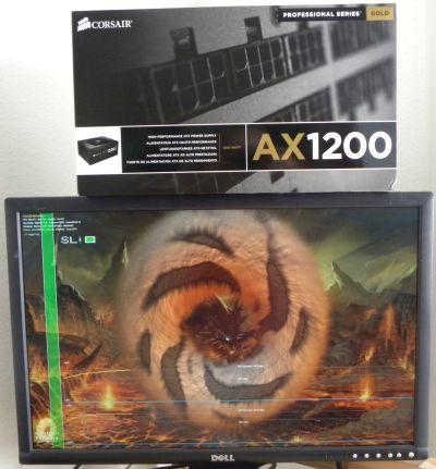 AX1200 + GTX 480 SLI + FurMark