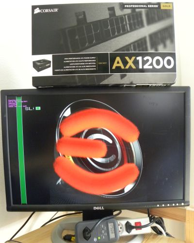 Corsair AX1200 PSU + EVGA OC Scanner + GTX 480 SLI