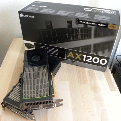 Corsair AX1200 PSU + two GTX 480