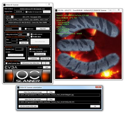 EVGA OC Scanner 1.4.0 - Custom textures