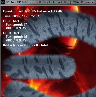 EVGA OC Scanner 1.4.0 - On-Screen Info
