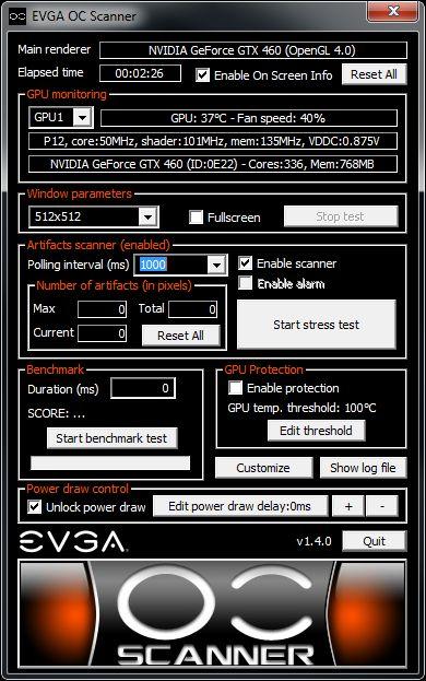 EVGA OC Scanner 1.4.0
