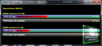 GeeXLab - GPU Thermometer