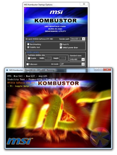 MSI Kombustor, Direct3D 9