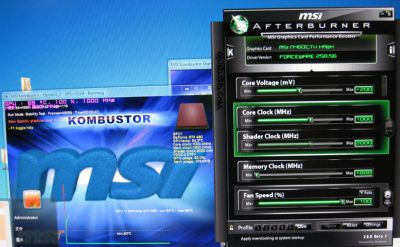MSI N460GTX Hawk + MSI Kombustor and Afterburner