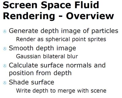 Screen Space Fluid Rendering for Games
