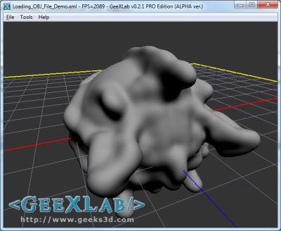 Sculptris model rendered in GeeXLab