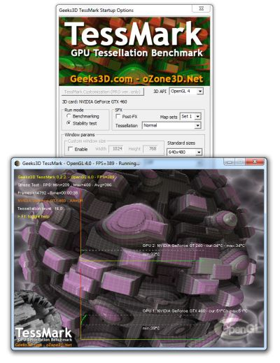 Geeks3D TessMark - OpenGL 4 Tessellation Benchmark