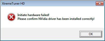 XTREME Tuner HD - ATI Radeon error