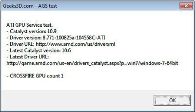 ATI GPU Service test