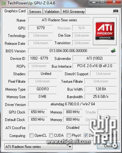 AMD HD 6340 GPU-Z