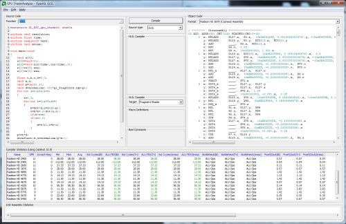 AMD GPU ShaderAnalyzer