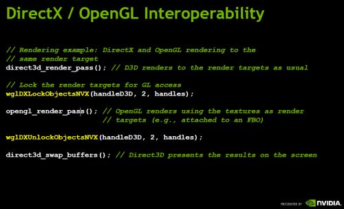 Direct3D / OpenGL interoperability