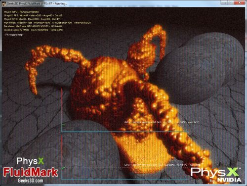 PhysX FluidMark 1.2.2 post processing effect