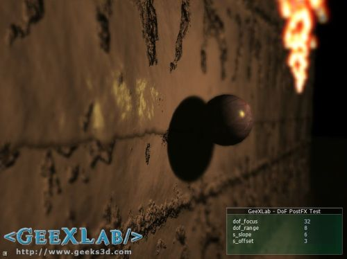 GeeXLab, depth of field (DoF) test