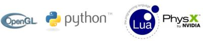 OpenGL, Lua, Python, PhysX