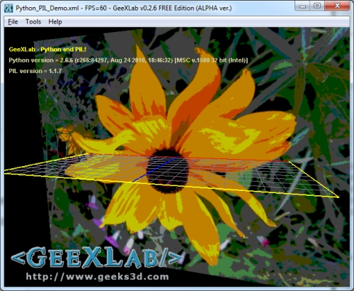 GeeXLab, Python, PIL