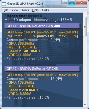 GPU Shark 0.2.4 - GPU monitoring tool